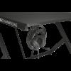 Kép 3/4 - Trust Gamer asztal - GXT 711 Dominus (Fa lap, fém lábak; fekete; 116x75x75 cm; pohártartó; kábel menedzsment)
