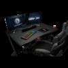 Kép 4/4 - Trust Gamer asztal - GXT 711 Dominus (Fa lap, fém lábak; fekete; 116x75x75 cm; pohártartó; kábel menedzsment)