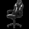 Kép 2/2 - Spirit of Gamer szék - FIGHTER White (állítható magasság; párnázott kartámasz; PU; max.120kg-ig, fekete-fehér)