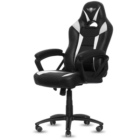 Spirit of Gamer szék - FIGHTER White (állítható magasság; párnázott kartámasz; PU; max.120kg-ig, fekete-fehér)