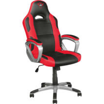 Trust Gamer szék - GXT 705R Ryon (piros, fa váz; állítható magasság; párnázott kartámasz; PU+szövet; max.150kg-ig)