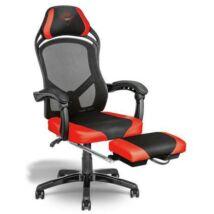 Trust Gamer szék - GXT 706 Rona (fém váz; hálós hátrész; állítható magasság; párnázott kartámasz; PU+szövet; max.120kg)