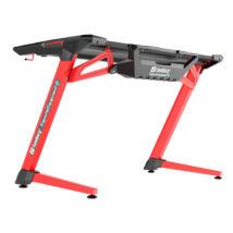 Sandberg Gamer Asztal - Fighter Gaming Desk 2 (Fa lap, fém lábak; fekete-vörös; 120x64x77 cm)