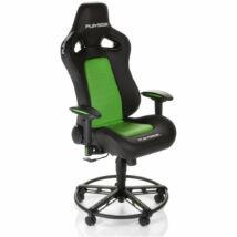 Playseat® Gamer szék - L33T GREEN (állítható magasság, állítható karfa, lábtartó, zöld)
