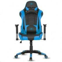 Spirit of Gamer szék - DEMON Blue (állítható dőlés/magasság; állítható kartámasz; PU; max.120kg-ig, fekete-kék)