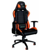 KEEP OUT szék -  XS200PROO (állítható magasság; PU; fekete-narancs)