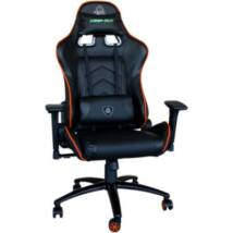 KEEP OUT szék - XS400PROO (állítható magasság;  PU; fekete-narancs)
