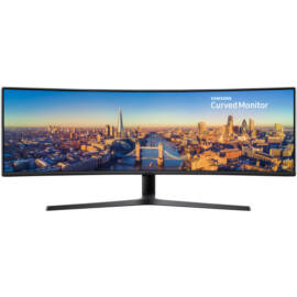 """Samsung C49J890DKU 49"""" 32:9 Ívelt 144Hz Gamer LED Monitor"""