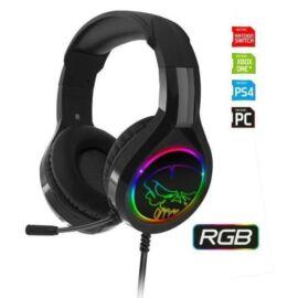 Spirit of Gamer Fejhallgató - PRO-H8 RGB (MultiPlatform, mikrofon, 3.5mm jack, hangerőszabályzó, 2m kábel, fekete)