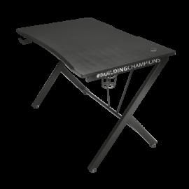 Trust Gamer asztal - GXT 711 Dominus (Fa lap, fém lábak; fekete; 116x75x75 cm; pohártartó; kábel menedzsment)