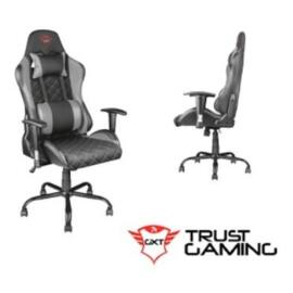 Trust Gamer szék - GXT 707G Resto (szürke; állítható dőlés/magasság; kartámasz; PU+szövet; max.150kg-ig)