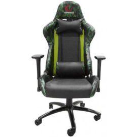 Rampage Gamer szék - KL-R96 Camouflage (fekete-zöld; állítható magasság; áll. kartámasz; PU/PVC; 100kg-ig)