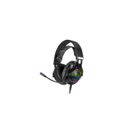 Rampage Fejhallgató - RM-K18 DOUBLE BLACK (7.1, mikrofon, USB, hangerőszabályzó, nagy-párnás, fekete)