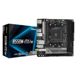 ASRock B550M-ITX/ac - AMD - Socket AM4 - AMD Ryzen - DDR4-SDRAM - DIMM - 2133, 2400, 2667, 2933, 3200, 3466, 3600, 3733, 3800, 3866, 4000, 4133, 4200, 4266, 4333, 4400, 4466, 4533, 4600 MHz (90-MXBDH0-A0UAYZ)