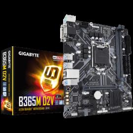 Gigabyte Alaplap - Intel B365M D2V s1151 (B365, 2xDDR4 2666MHz, RAID, 6xSATA3, M.2, 6xUSB2.0, 6xUSB3.1)
