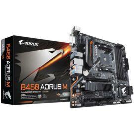 Gigabyte Alaplap - AMD B450 AORUS M AM4 (B450, 4xDDR4 3200MHz, 2xPCI-E, RAID, 6xSATA3, M.2, 6xUSB2.0, 8xUSB3.1)