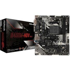 Asrock B450M-HDV R4.0 desktop alaplap microATX
