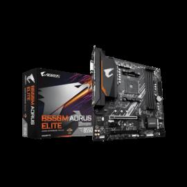 Gigabyte Alaplap - AMD B550M AORUS ELITE AM4 (B550, 4xDDR4 3200MHz, 2xPCI-E, RAID, 6xSATA3, M.2, 6xUSB2.0, 8xUSB3.1)