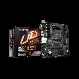 Gigabyte Alaplap - AMD B550M S2H AM4 (B550, 4xDDR4 3200MHz, PCI-E, RAID, 4xSATA3, M.2, 4xUSB2.0, 6xUSB3.2)