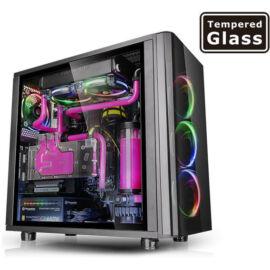 Thermaltake View 31 Tempered Glass Edition táp nélküli ATX számítógépház fekete