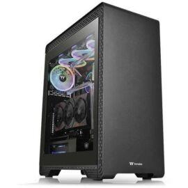 Thermaltake S500 TG táp nélküli ablakos ATX számítógépház fekete
