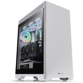 Thermaltake S500 TG Snow táp nélküli ablakos ATX számítógépház fehér