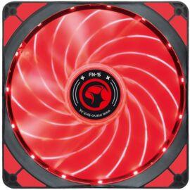 Marvo Cooler 14cm - FN-15 RD (28dB; max. 93,45 m3/h; 4pin csatlakozó; ház hűtésre, piros LED)
