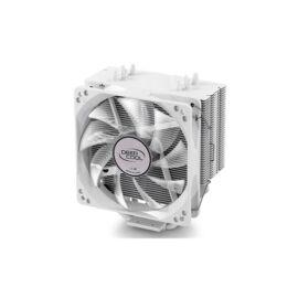 DeepCool CPU Cooler - GAMMAXX 400 WHITE (17,8-30dB; max. 126,30 m3/h; 4pin csatlakozó; 4 db heatpipe, 12cm, PWM, LED)