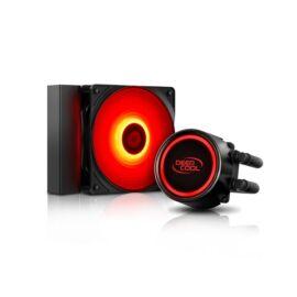 DeepCool CPU Water Cooler - GAMMAXX L120T RED (30dB, max. 117.80 m3/h, 12cm)
