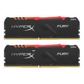 Kingston 32GB/2666MHz DDR-4 HyperX FURY RGB (Kit 2db 16GB) (HX426C16FB3AK2/32) memória