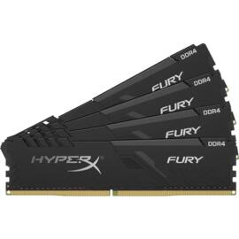 Kingston 32GB/2666MHz DDR-4 1Rx8 HyperX FURY fekete (Kit 4db 8GB) (HX426C16FB3K4/32) memória