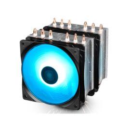 DeepCool CPU Cooler - NEPTWIN RGB (27dB; max. 95,99 m3/h; 4pin csatlakozó; 6 db heatpipe, 2x12cm, PWM, RGB LED)
