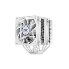DeepCool CPU Cooler - NEPTWIN WHITE (17,8-30dB; max. 126,30 m3/h; 4pin csatlakozó; 6 db heatpipe, 2x12cm, PWM, fehér)