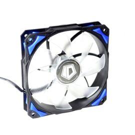 ID-Cooling Cooler 12cm - PL-12025-B (14-35dB, max. 120,96 m3/h, 4pin csatlakozó, PWM, Kék LED)