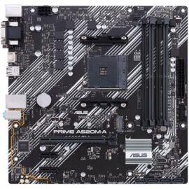 Asus Alaplap - AMD PRIME A520M-A AM4 (A520, 4xDDR4 4800MHz, 1xGBE LAN, 1xM.2, 4xSATA3, 6xUSB2.0, 6xUSB3.2)
