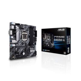 Asus Alaplap - Intel PRIME B460M-A s1200 (B460, 4xDDR4 2933MHz, 6xSATA3, RAID, 2x M.2, 6xUSB2.0, 6xUSB3.2)