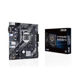 Asus Alaplap - Intel PRIME B460M-K s1200 (B460, 2xDDR4 2933MHz, 6xSATA3, RAID, 1x M.2, 6xUSB2.0, 6xUSB3.2)