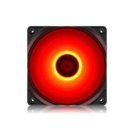 DeepCool Cooler 12cm - RF120R (21,9dB; max. 83,08 m3/h; 3pin csatlakozó; ház hűtésre, piros LED)