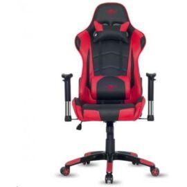 Spirit of Gamer szék - DEMON Red (állítható dőlés/magasság; állítható kartámasz; PU; max.120kg-ig, fekete-piros)