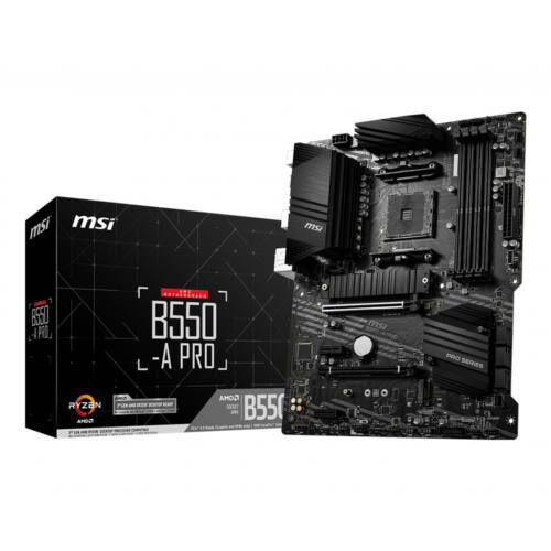 MSI B550-A Pro - AMD - Socket AM4 - AMD Ryzen - DDR4-SDRAM - DIMM - 1866, 2133, 2400, 2667, 2800, 2933, 3000, 3066, 3200, 3466, 3600, 3733, 3866, 4000, 4133, 4266, 4400, 4800 MHz (7C56-002R)