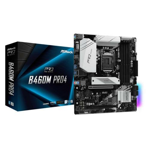 Asrock B460M Pro4 Intel B460 LGA 1200 Micro ATX (90-MXBCV0-A0UAYZ)