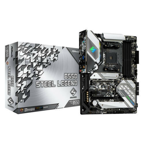 ASRock B550 Steel Legend - AMD - Socket AM4 - AMD Ryzen - DDR4-SDRAM - DIMM - 128 GB (90-MXBDF0-A0UAYZ)