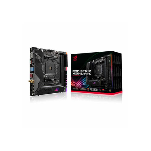 ASUS ROG Strix X570-I Gaming - AMD - Socket AM4 - AMD Ryzen - DDR4-SDRAM - DIMM - 4800, 2133, 2400, 2666, 2800, 2933, 3000, 3200, 3400, 3466, 3600, 3800, 4000, 4133, 4266, 4400, 4600 MHz (90MB1140-M0EAY0)