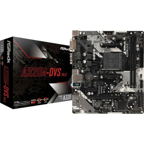 ASRock A320M - AMD - Socket AM4 - AMD A, AMD Ryzen - DDR4-SDRAM - DIMM - 2133, 2400, 2667, 2933, 3200 MHz (90-MXB590-A0UAYZ)