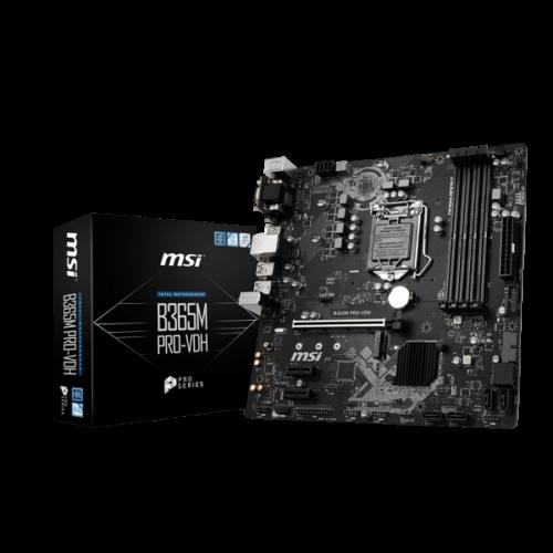 MSI B365M PRO-VDH desktop alaplap microATX