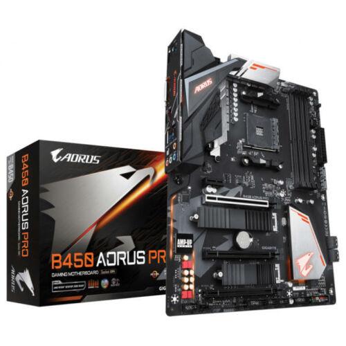 GIGABYTE Alaplap AM4 B450 AORUS PRO AMD B450, ATX