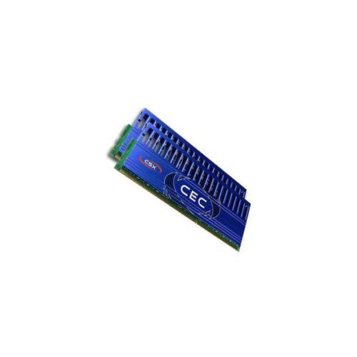 CSX Memória Desktop - 4GB Kit DDR3 (2x2GB, 1600Mhz, hűtőbordás, overclocking)