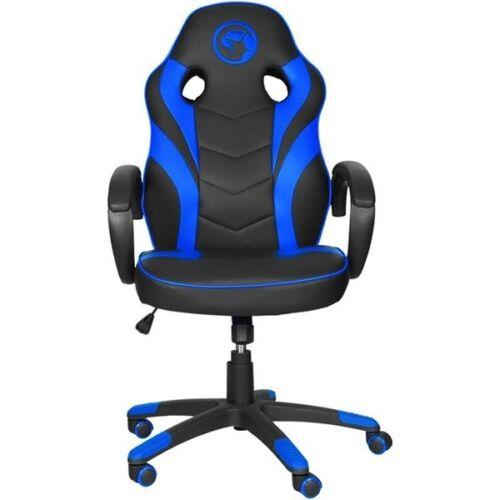 Marvo Gamer szék - CH-301 BL (állítható dőlés/magasság; fix kartámasz; PU; max.150kg-ig, fekete-kék)