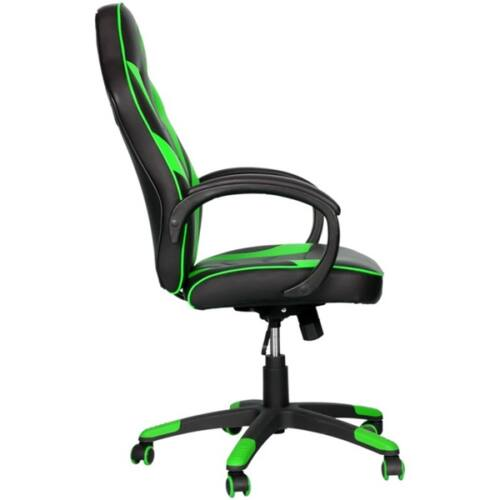 Marvo Gamer szék - CH-301 GN (állítható dőlés/magasság; fix kartámasz; PU; max.150kg-ig, fekete-zöld)