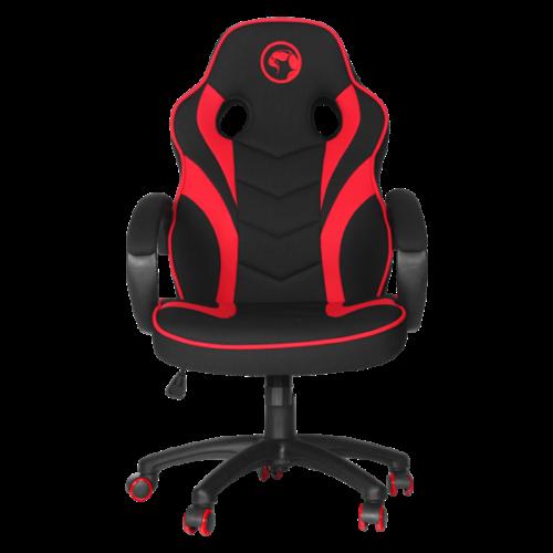 Marvo Gamer szék - CH-303 RD (állítható dőlés/magasság; fix kartámasz; PU; max.150kg-ig, fekete-piros)